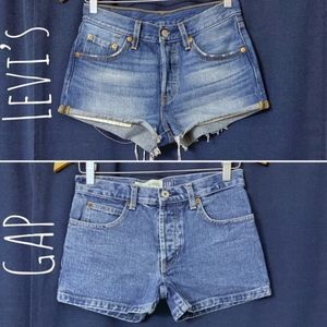 Lot of Levi's & GAP High Rise Button-Fly Shorts